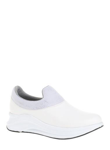 Derigo Dolgu Topuklu Ayakkabı Beyaz